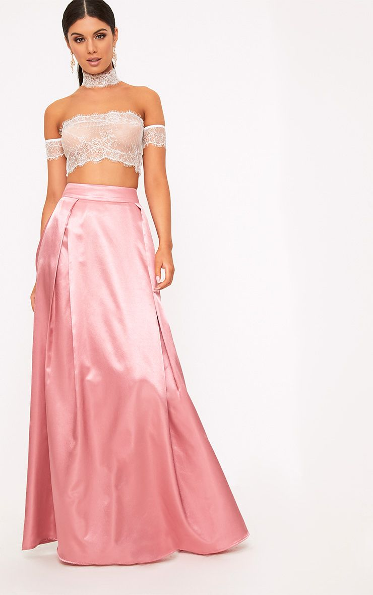 Ruthie Rose Satin Maxi Prom Skirt