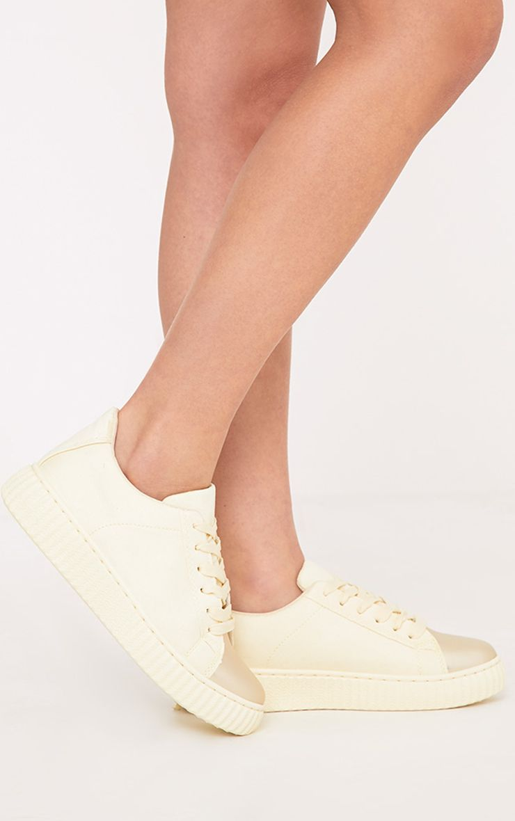 Amera Lemon Faux Suede Trainers