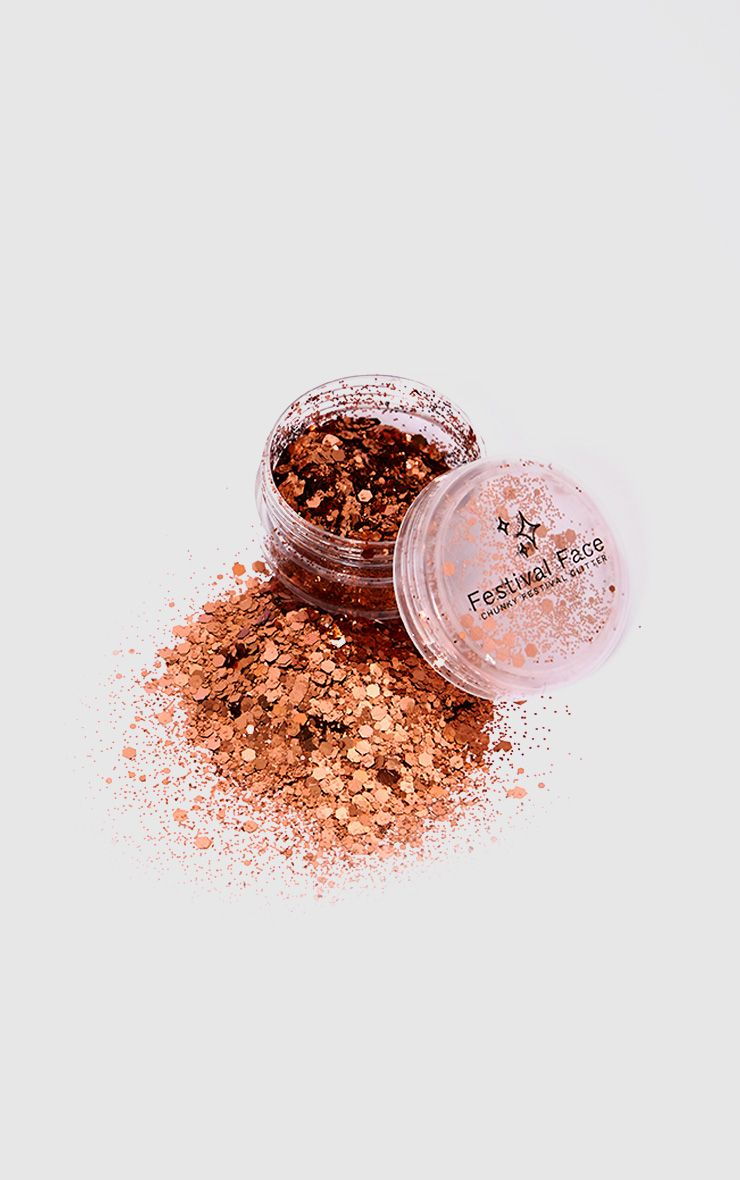 Festival Face Copper Tan Glitter
