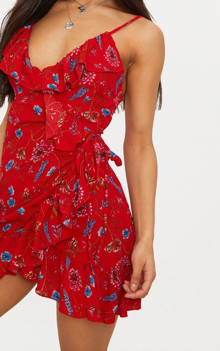robe droite cache c ur rouge fleurs robes. Black Bedroom Furniture Sets. Home Design Ideas