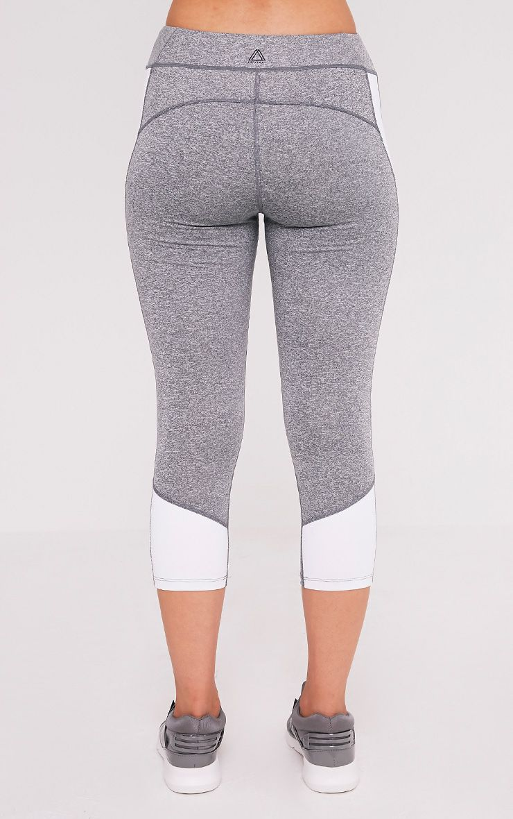 Fion White Panelled Cropped Gym Leggings 5