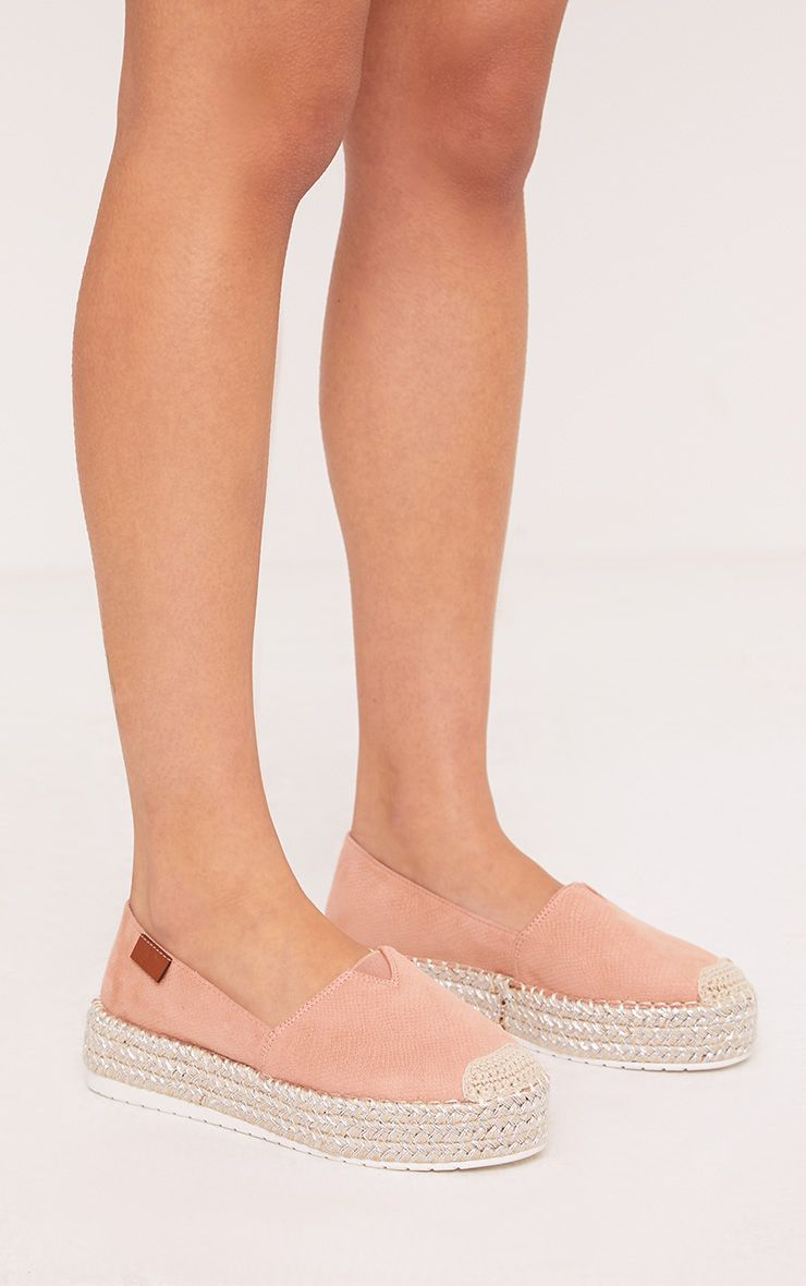 Sienne Blush Textured Metalic Sole Espadrilles