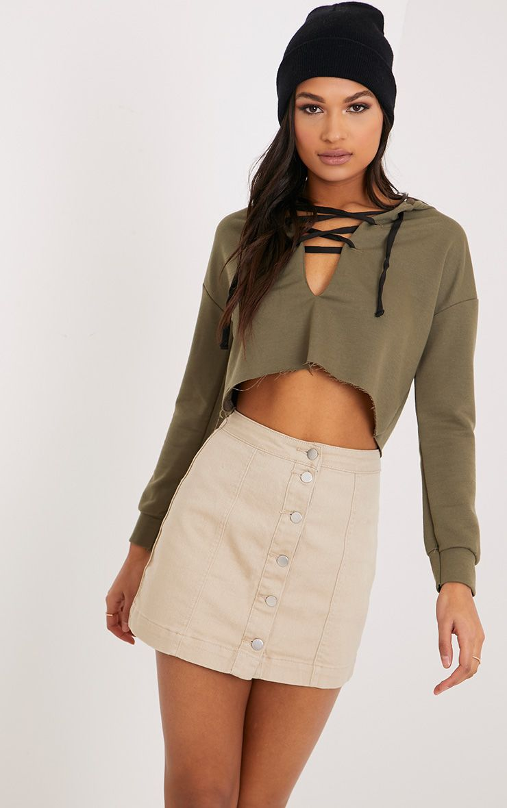 Cammie Stone Denim Mini Skirt