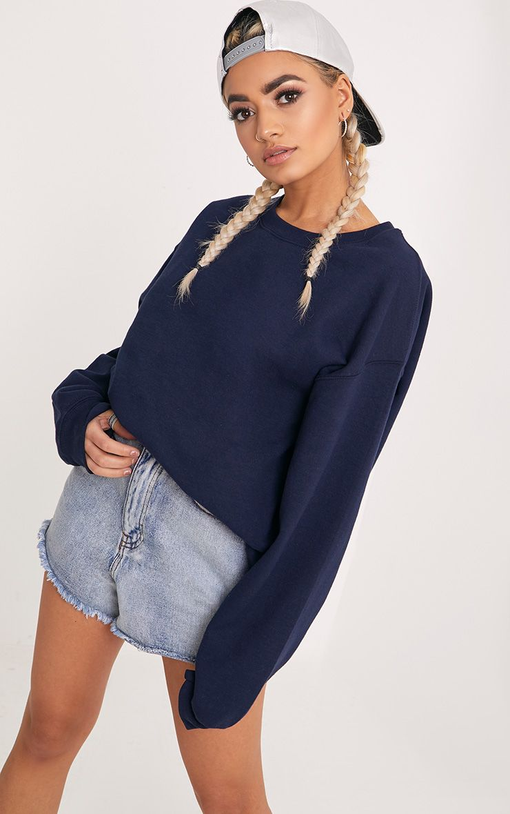 Ultimate Navy Crew Neck Sweater