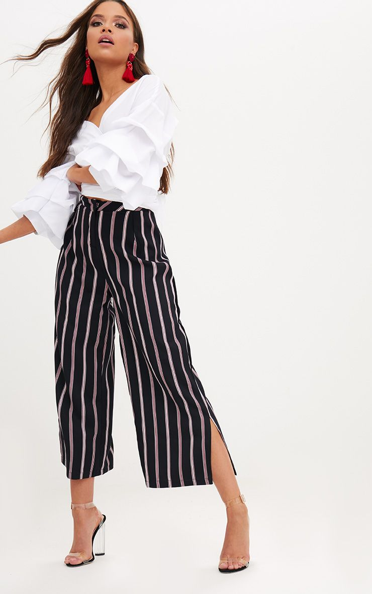 Red Stripe Suit Culottes
