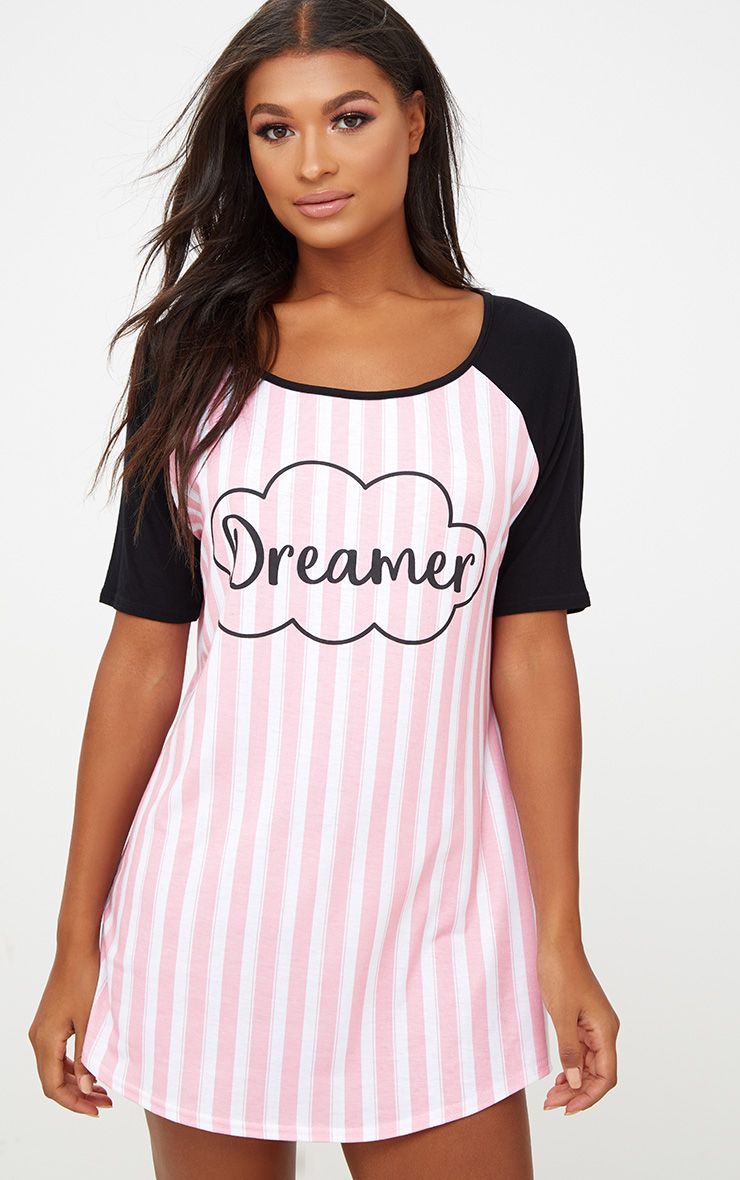 Pink Dreamer Striped Nightie