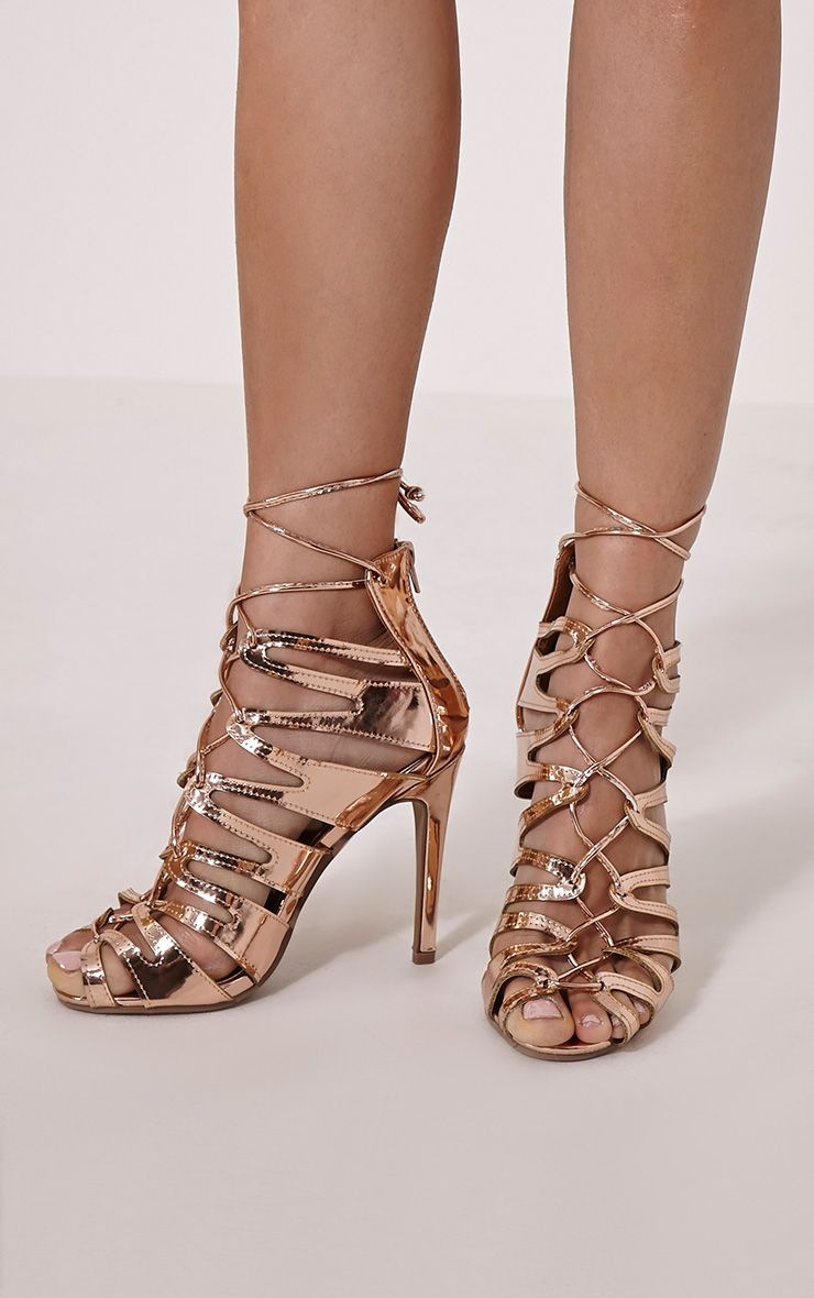 Lizeth Rose Cut Out Heeled Sandals 1