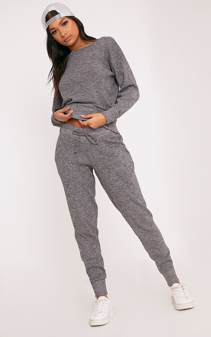 Auriel Grey Jogger Jumper Knitted Lounge Set