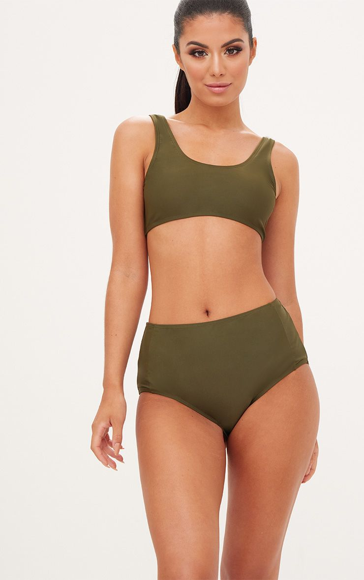 Mix & Match Khaki High Waisted Bottoms