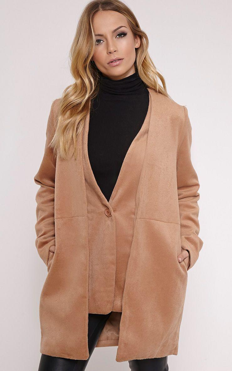 Louella Tan Double Layer Oversized Coat 1