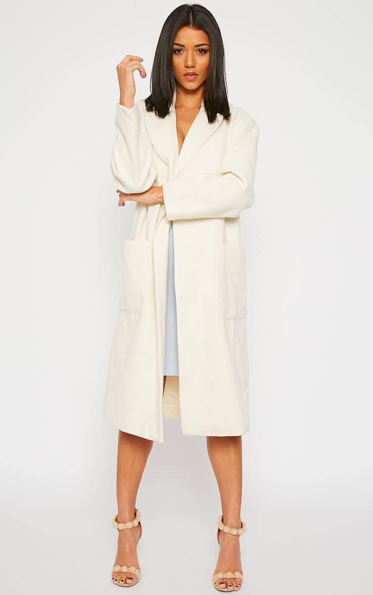 Trisha Cream Long Coat 1