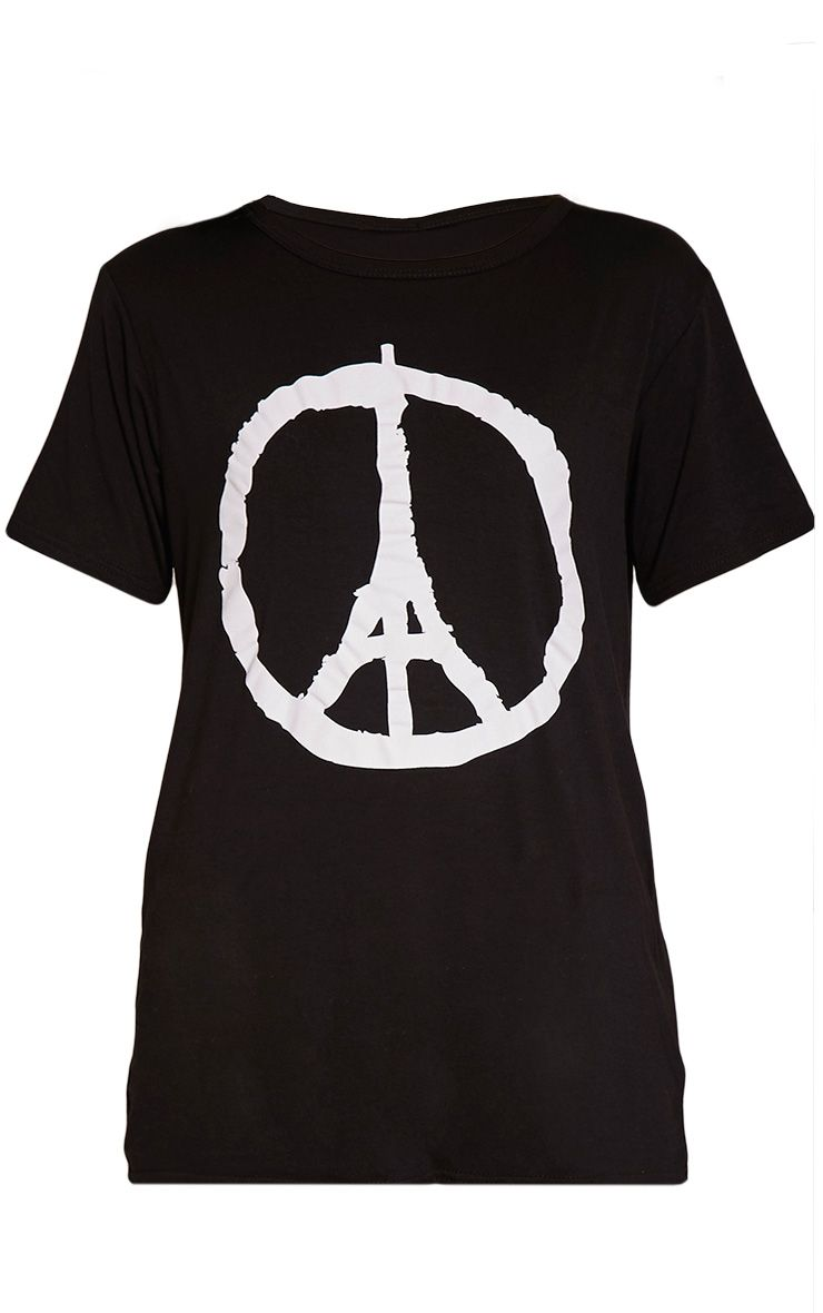 Paris Black Peace T-Shirt 1
