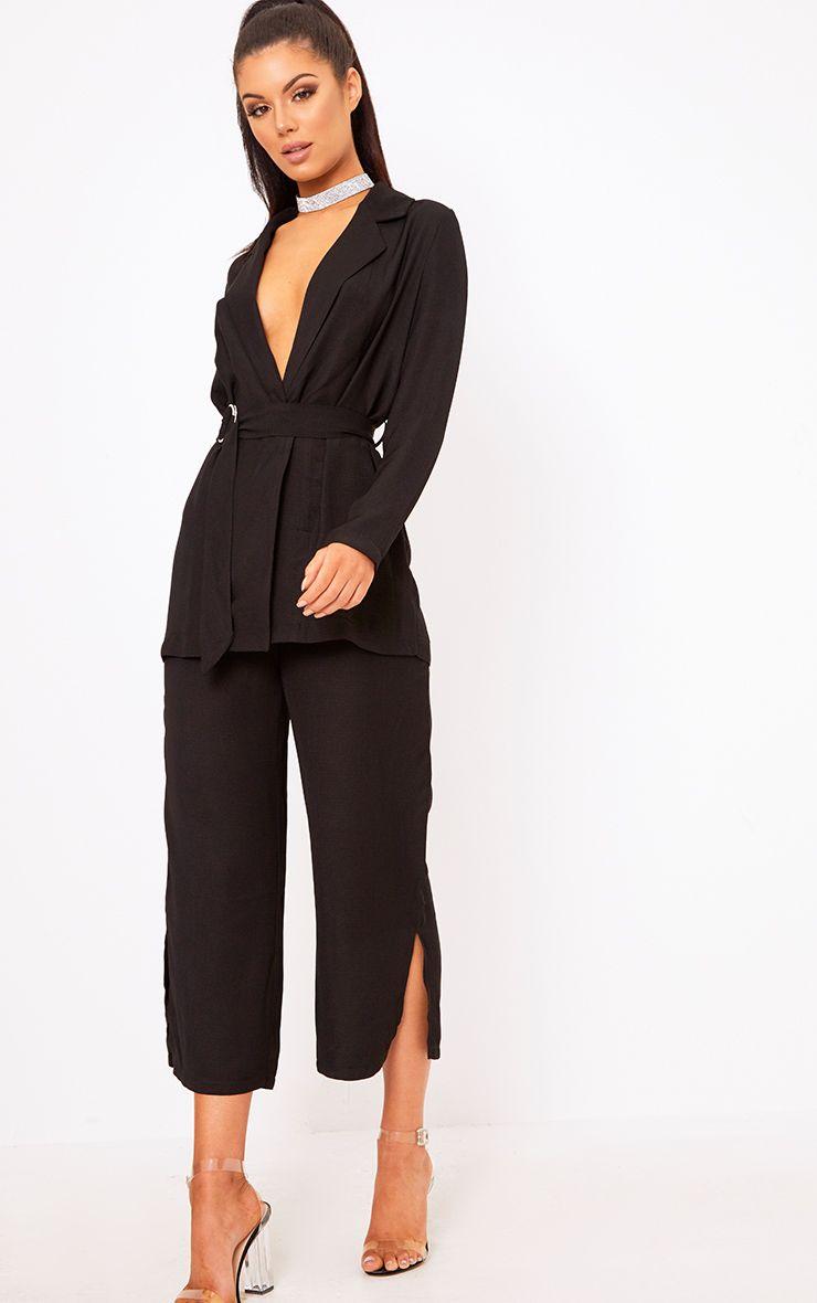 Romily Black Suit Culottes