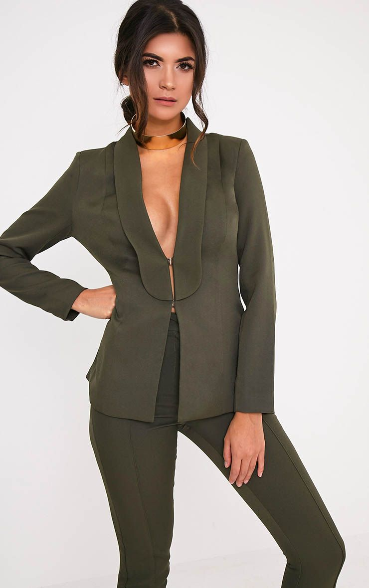 Avani Khaki Suit Jacket 1