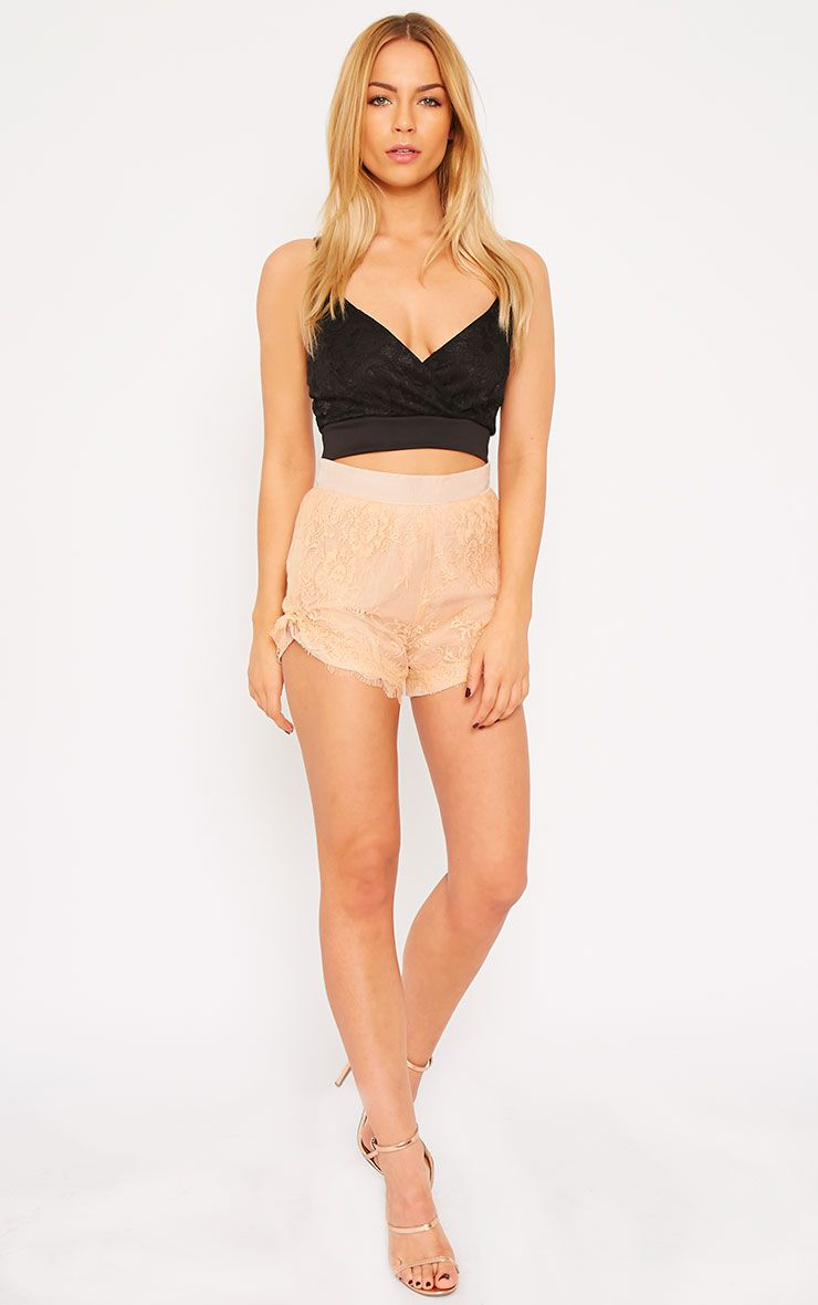 Leif Nude Lace Shorts 1