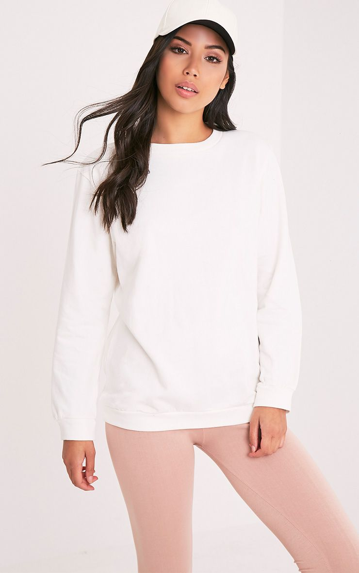 Hinton Cream Longsleeve Crew Neck Sweater 1