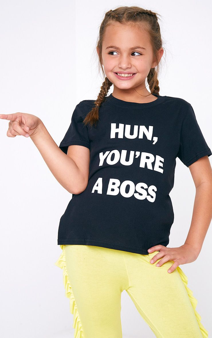 Hun You're A Boss Black Tee