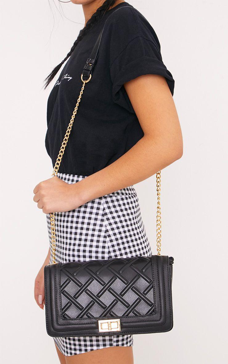Cindy Black Chain Strap Shoulder Bag