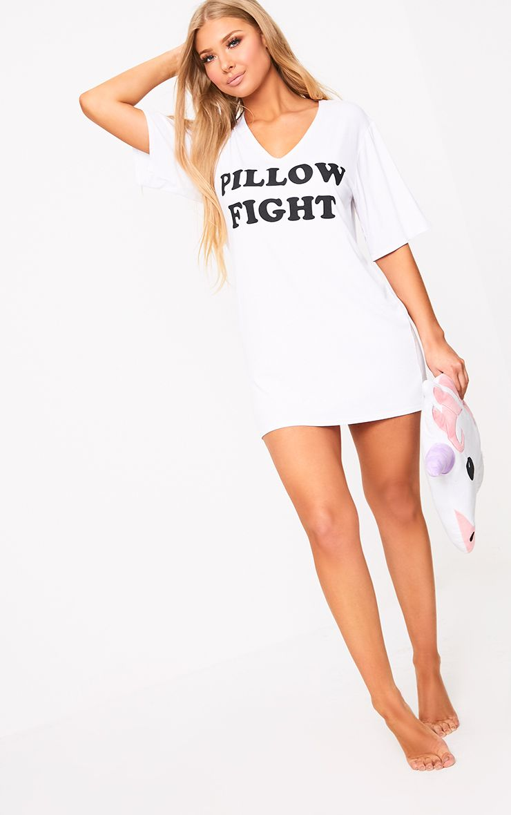 White Pillow Fight Nightie