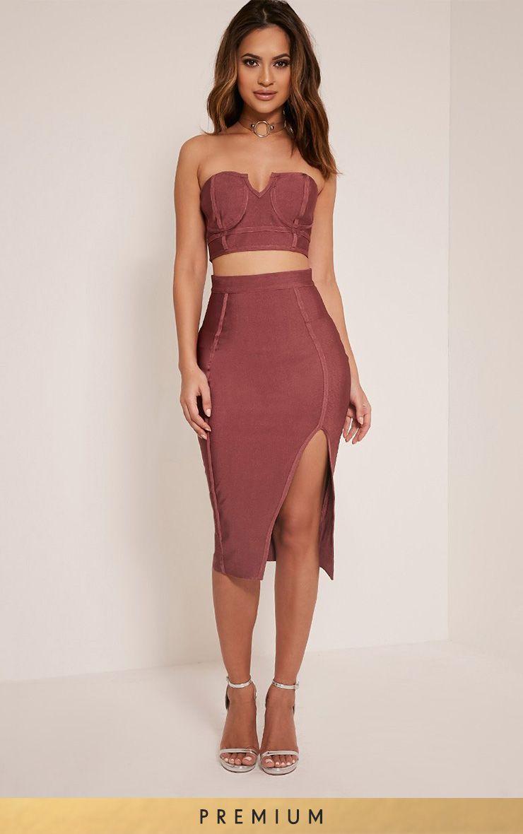Caitlyn Rose Premium Bandage Midi Skirt