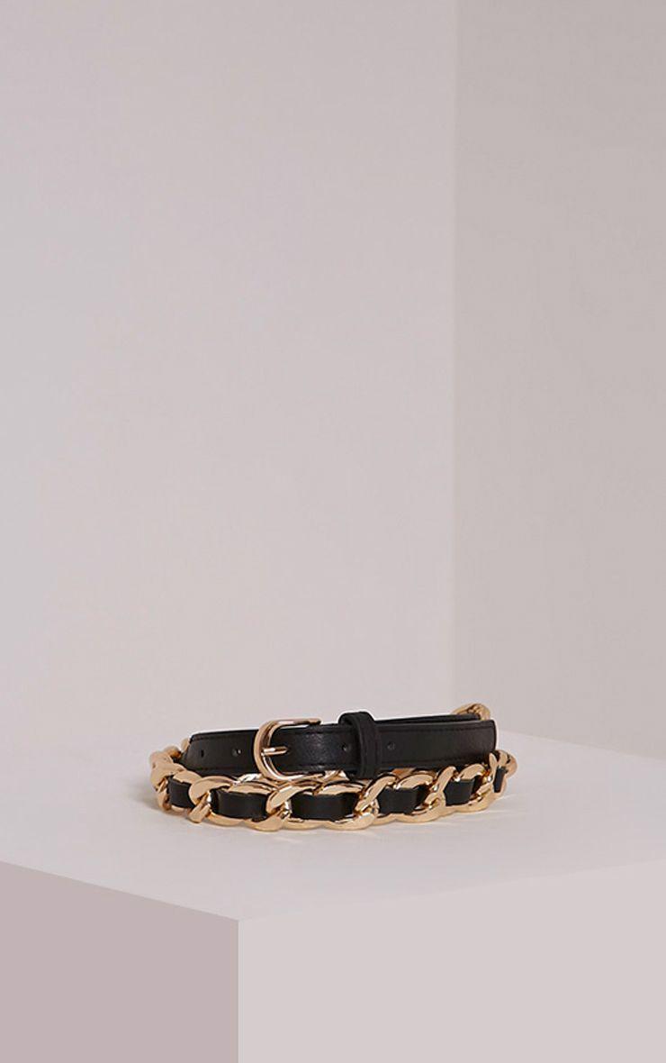 Lella Gold Chain Twisted Belt 1