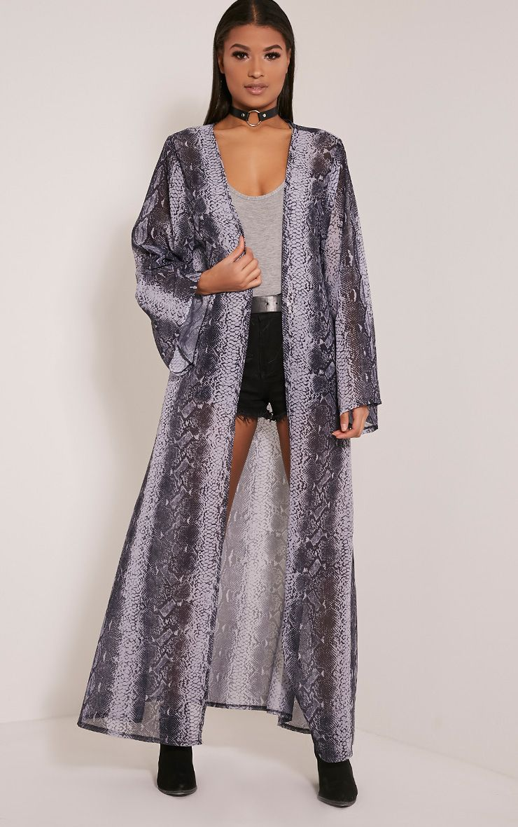 Xalia Snakeskin Sheer Kimono 1