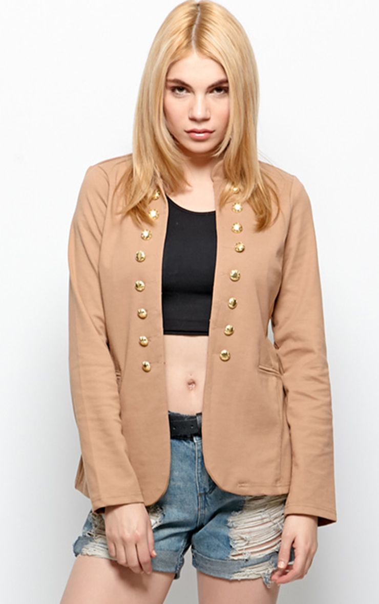 Marissa Beige Fitted Jacket  1