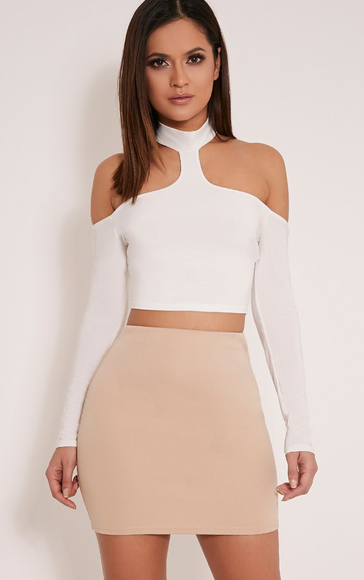 Milah Stone Scuba Mini Skirt