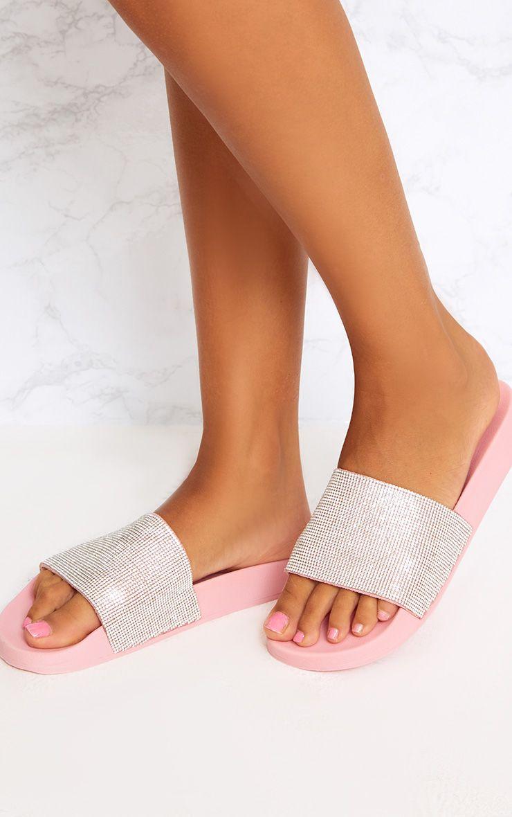 Pink Diamante Sliders