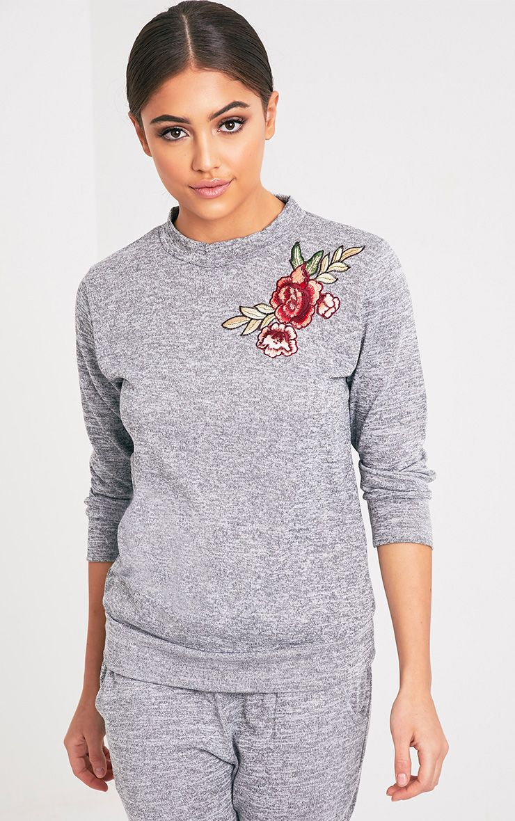 Cally Grey Applique Tracksuit Sweater