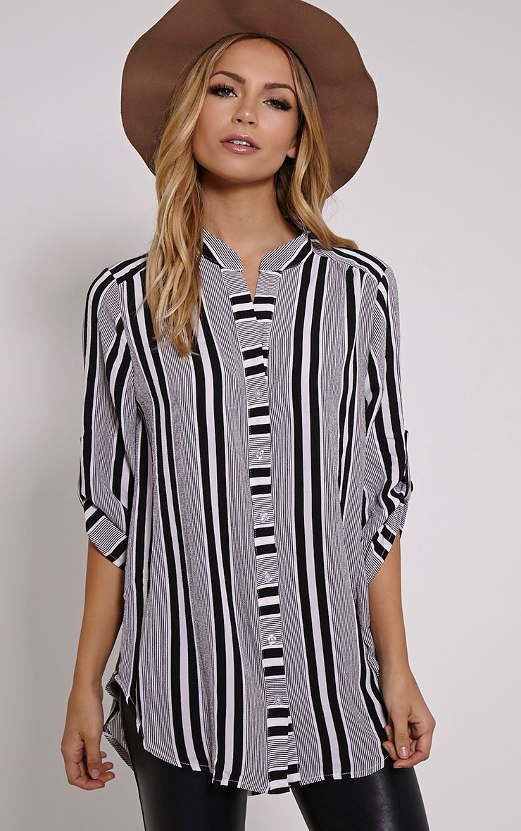 Jax Monochrome Stripe Shirt 1