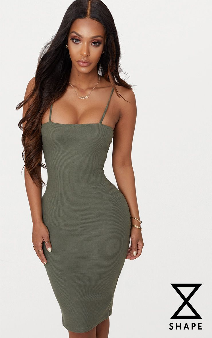 PRETTYLITTLETHING Shape Nude Strappy Camo Midi Dress Pre Order Cheap Price 6yPJLc0