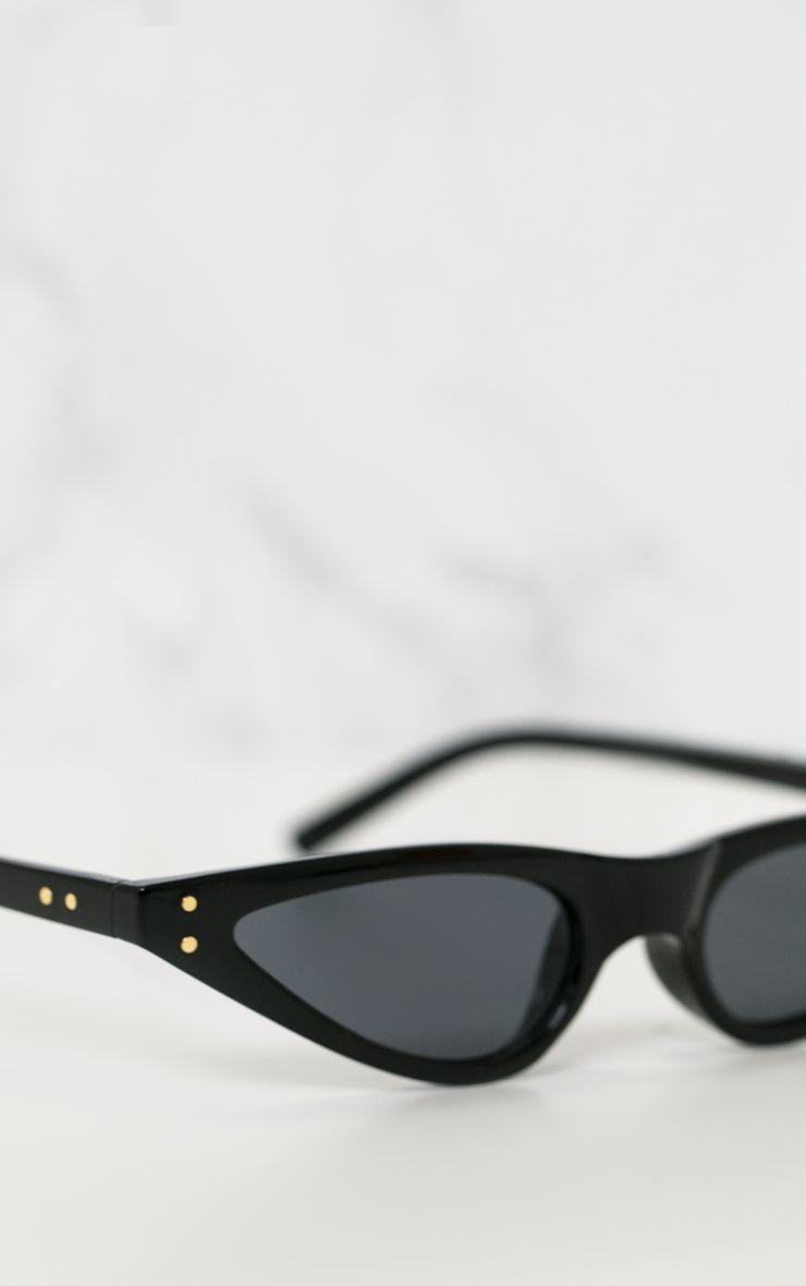 Black Cat Eye Skinny Sunglasses
