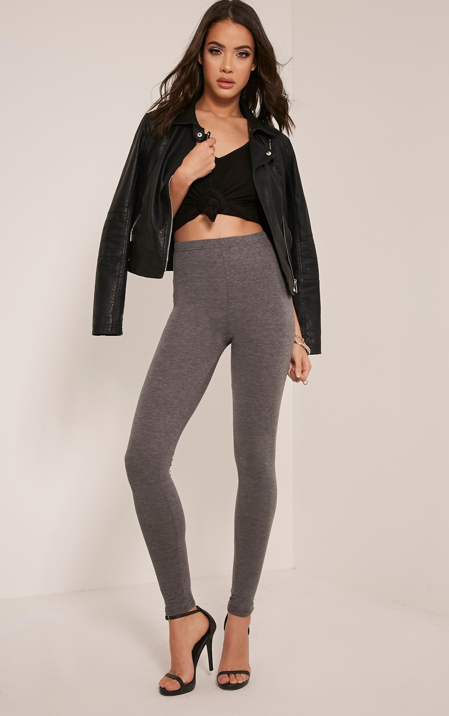 Basic Charcoal Leggings