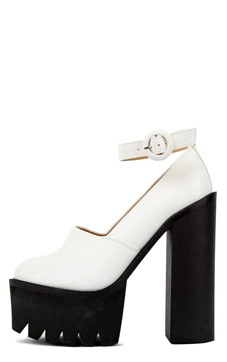 Franceska White Extreme Cleated Heels 1