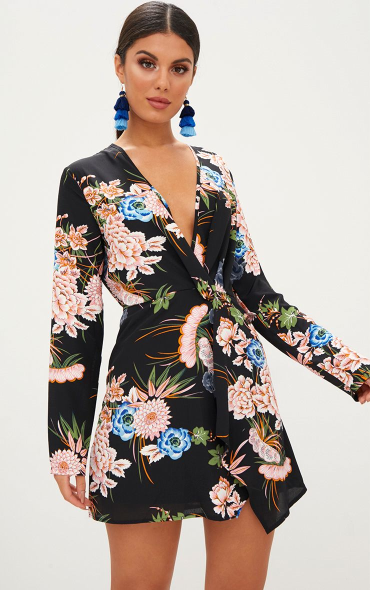Wedding guest dresses dress for a wedding for Black floral dress to a wedding