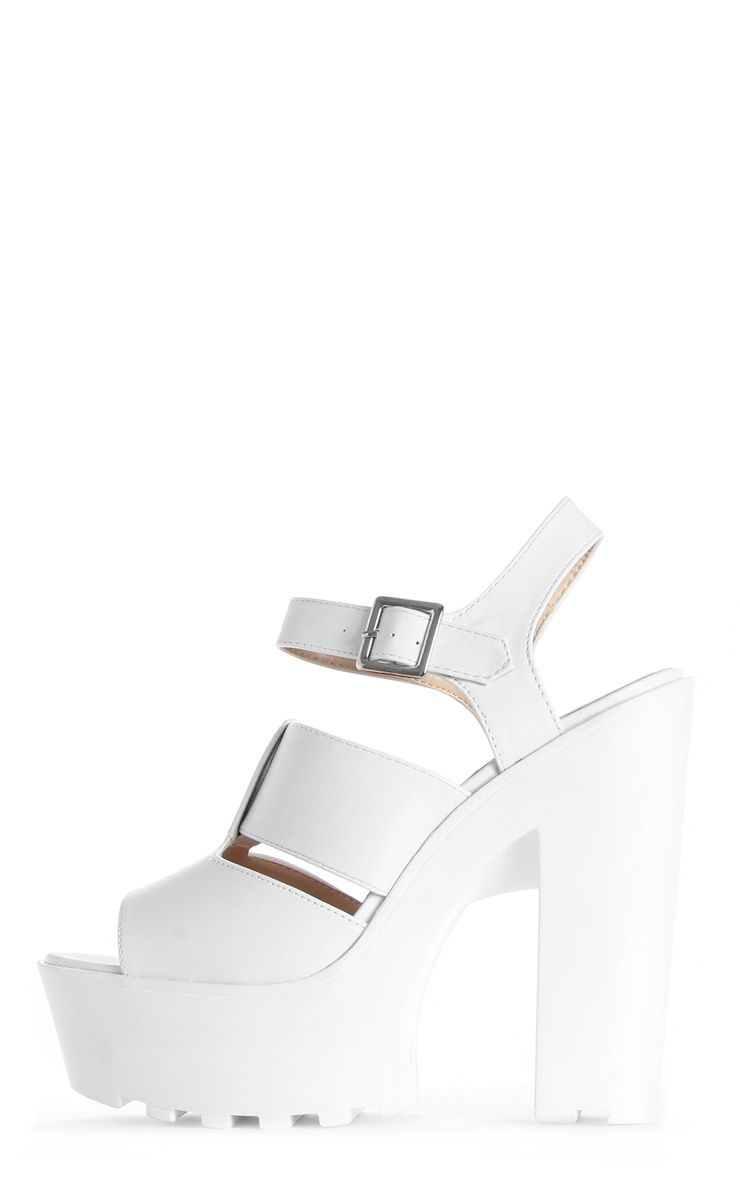 Scarlett White Cleated Sole Sandals 1