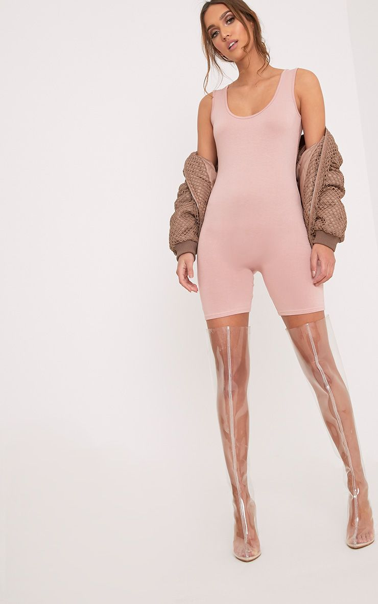 Lashanti Nude Fitted Unitard