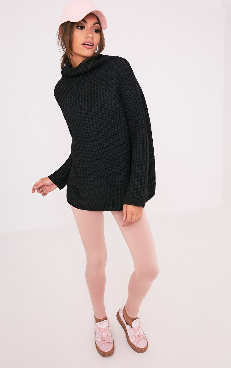 Rheana Black Oversized Chunky Knit Jumper 5