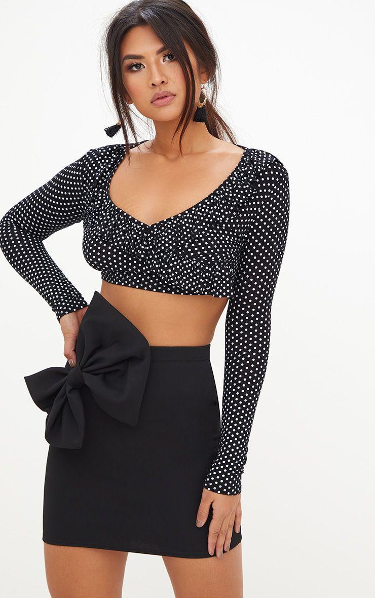 Black Bow Mini Skirt