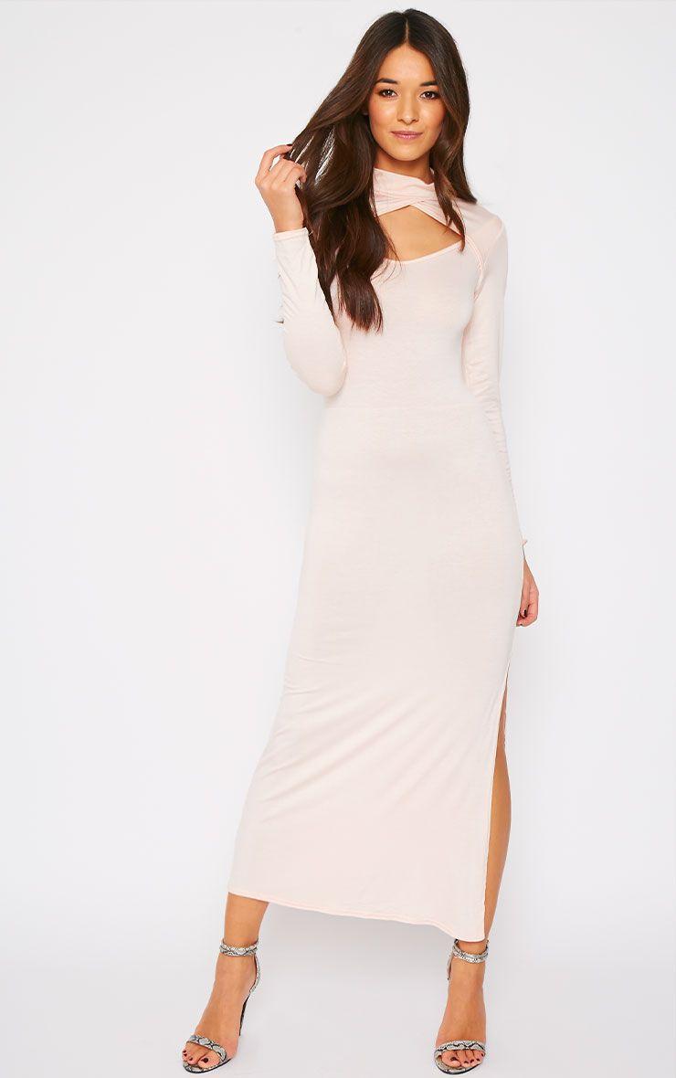 Alexandra Pink Cut Out Maxi Dress 1