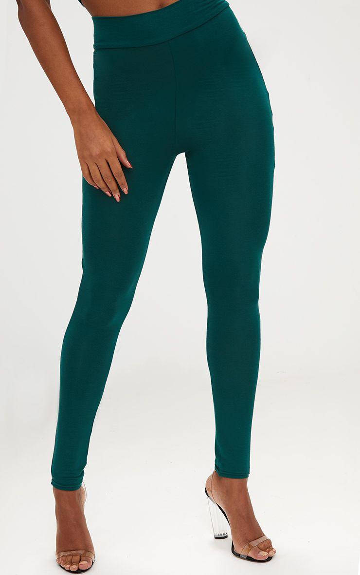 forest green high waisted jersey leggings. Black Bedroom Furniture Sets. Home Design Ideas