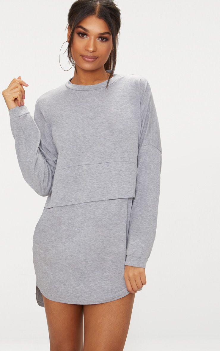 Long Sleeve Jersey Layer T Shirt Dress