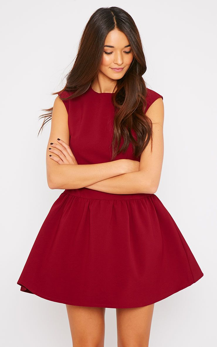 Ria Wine Drop Waist Dress 1