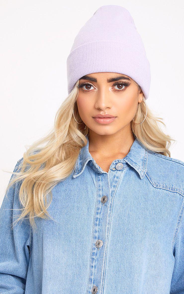 Lilac Beanie Hat