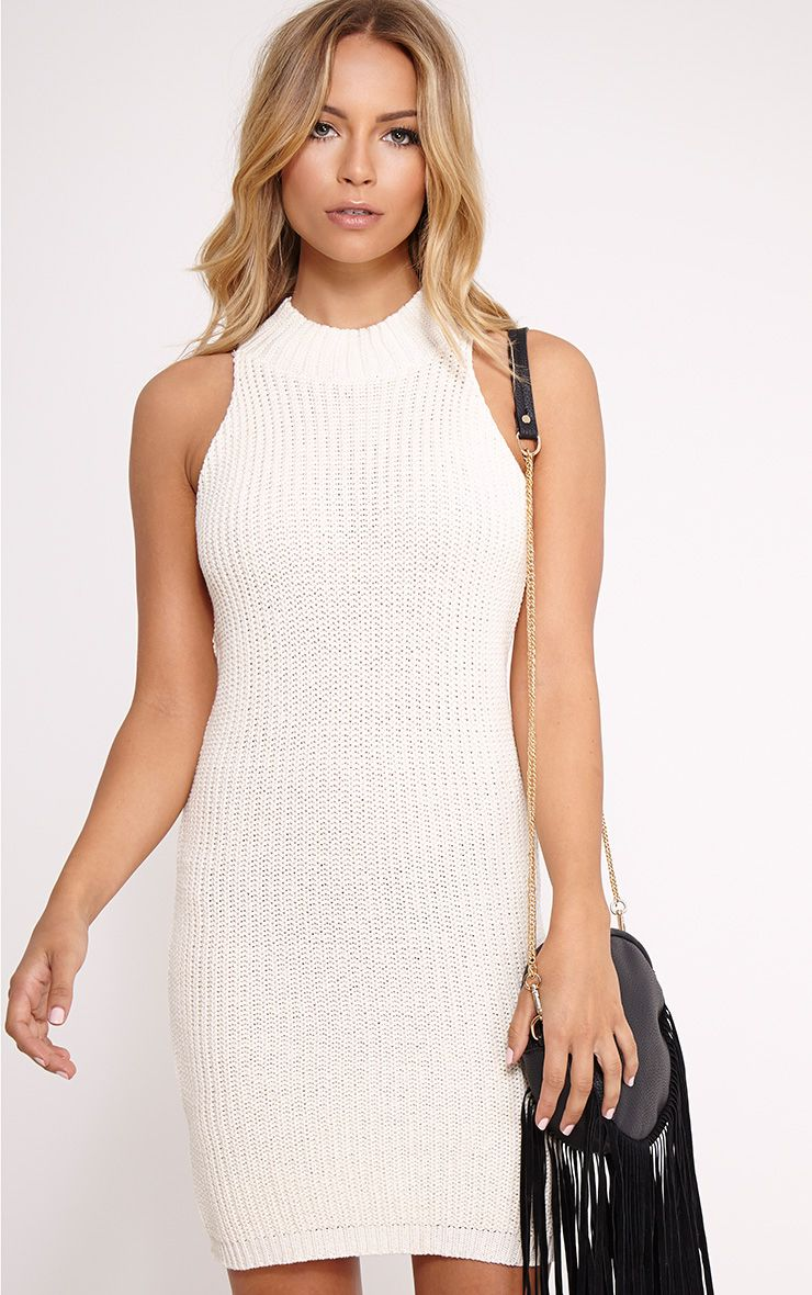 Zerin Cream Knitted Dress 1