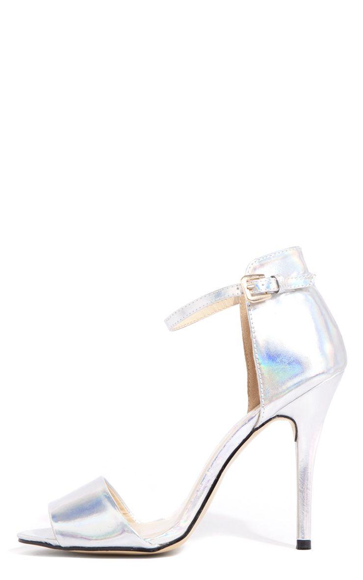 Luna Hologram Stiletto Sandals 1