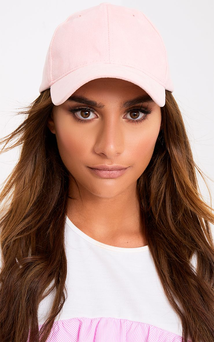 Pink Suede Baseball Cap