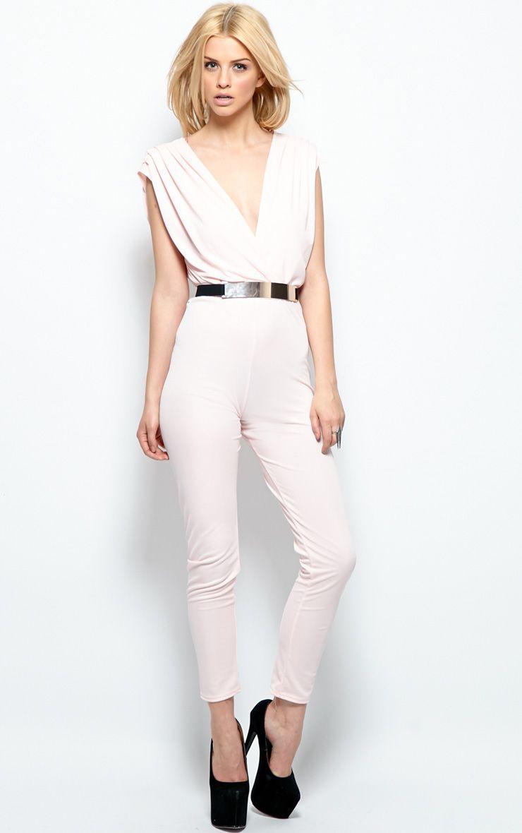 Alyssa Pink Chiffon Jumpsuit  1