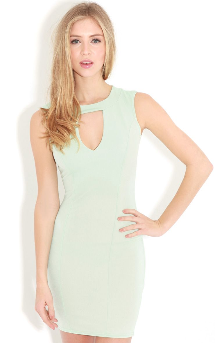 Henrietta Mint Tailored Chiffon Dress 1